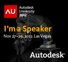 I am a speaker at Autodesk University 2012!