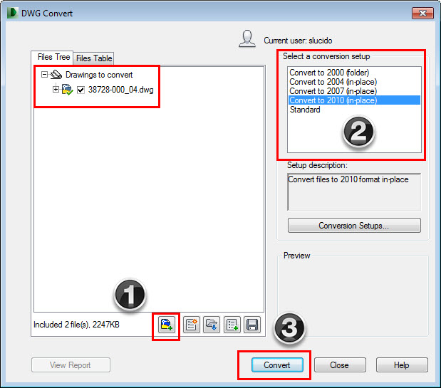 Using DWG Trueview to Convert the AutoCAD File Format | CADproTips