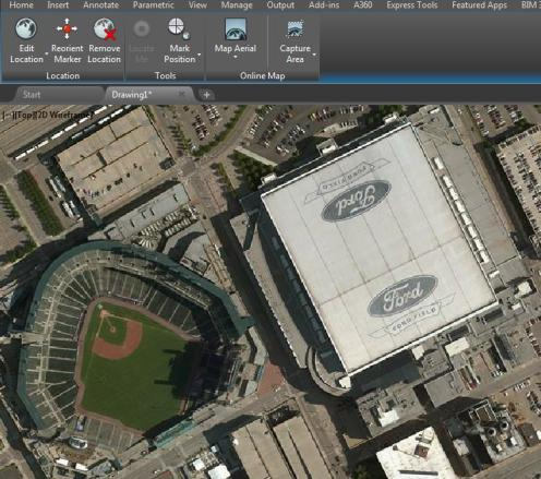 Adding aerial maps in autodesk autocad cadprotips 05 tiger stadium gumiabroncs Gallery