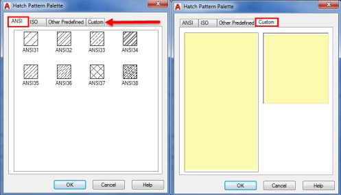 Adding Hatches to the Custom Tab in AutoCAD | CADproTips